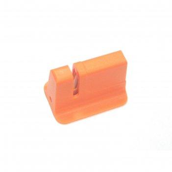 Точилка для ножей atlantis, керамическая, оранжевая