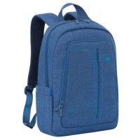 Рюкзак для ноутбука 15,6 rivacase 7560 42,5*31*11,5см, полиэстер, синий