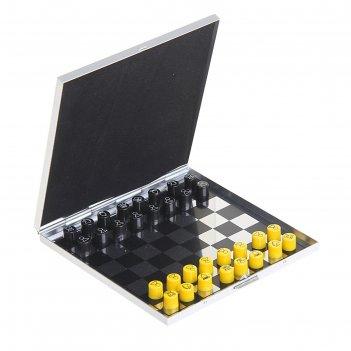 Шахматы сувенирные на магните цветные 10*10см металл набор