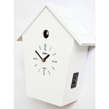 Настенные часы с кукушкой sinix 504 w