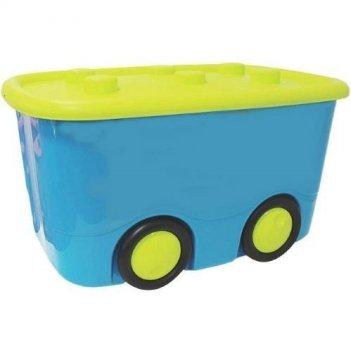 Ящик для игрушек моби бирюзовый 2598