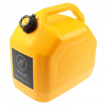 Канистра гсм, 20 л, пластиковая, желтая