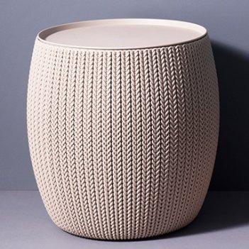 Стол-пуфик keter knit cozies дюна, садовая мебель