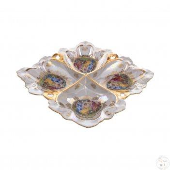 Менажница 40 см 4-я queens crown мадонна перламутр корона