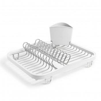 Сушилка для посуды sinkin, белая, никель