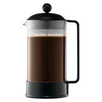 Кофейник с прессом, объем: 0,35 л, материал: стекло, пластик, нержавеющая