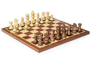Шахматы классические, фигуры самшит и палисандр, король 6,5см
