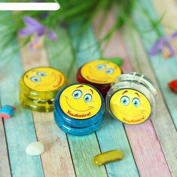 Йо-йо улыбайся d=4,7см, цвета микс