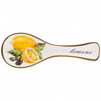 Подставка под ложку лемон три 25*9 см. высота=2,5 см. (кор=72шт.)