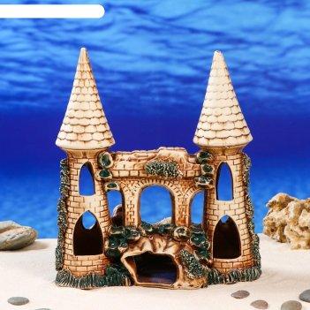 Аквадекор-грот для аквариума замок с гротом 14х26х28см