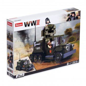 Конструктор армия боевой грузовик, 243 детали
