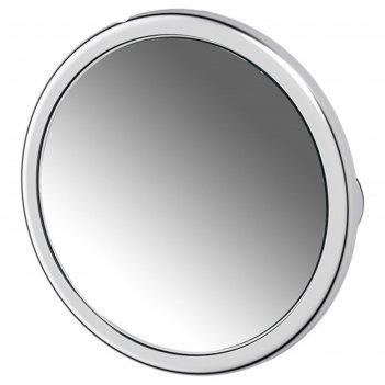 Косметическое зеркало на вакуумных присосках x5, хром, defesto