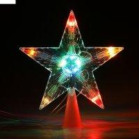 Фигура звезда белая ёлочная 16х16 см, , 10 ламп, 240v мульти