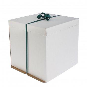 Кондитерская упаковка, короб белый 50 х 50 х 30 см
