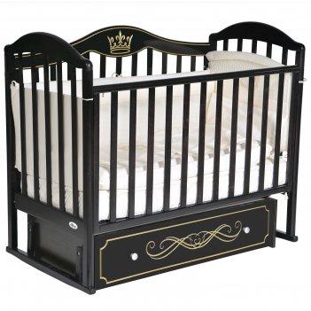 Кроватка oliver camilla elegance, универсальный маятник, ящик, цвет шокола