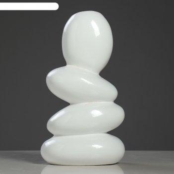 Ваза камни белая, глазурь