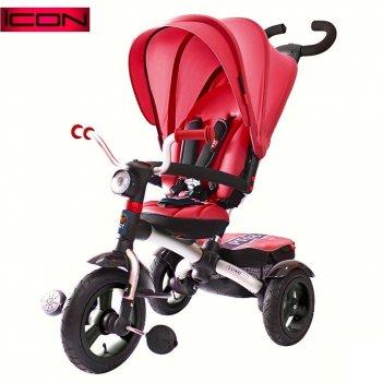 Icon 6 rt 3-х колесный алюминиевый велосипед-коляска luxe aluminium cherry