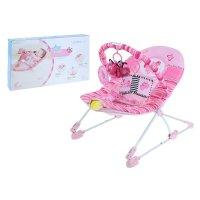 Детское кресло-качалка бабочка, игровая дуга, музыка, вибрация