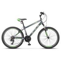 Велосипед 24 stels navigator-400 v, v030, цвет серый/зелёный/белый, размер