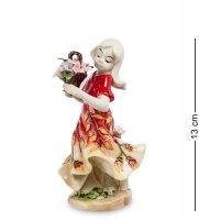 Jp-12/16 статуэтка девушка с цветами (pavone)