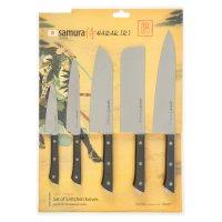 Набор ножей samura harakiri 5 предметов (лезвие -  99, 150, 170, 175, 208