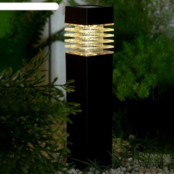 Фонарь садовый на солнечной батарее столбик, 39 х 6 х 6 см, 1 led,пластик,