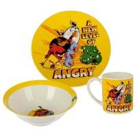 Набор посуды angry birds. классика, 3 предмета: кружка 220 мл, тарелка 19