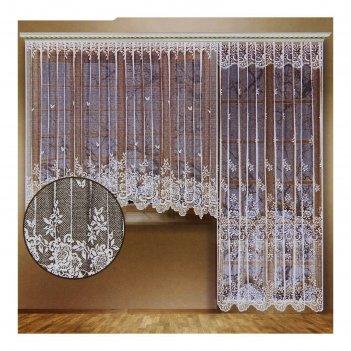 Комплект штор со шторной лентой, размер 340х165/170х250 см, 100% п/э, цвет
