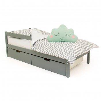 Детская кровать svogen classic графит