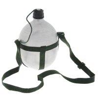 Фляжка 1,7 литра походная с ремнём через плечо не окрашенная 22х15х10 см