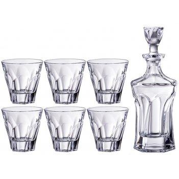 Набор для виски аполло 7 пр.: штоф+6 стаканов 600/300 мл. высота=23/10 см.