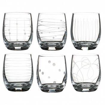 Набор стаканов из 6 шт. виола микс 300 мл высота=10 см (кор=8набор.)