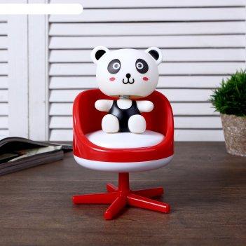 Шкатулка музыкальная механическая медвежонок в кресле микс 17х11х11 см