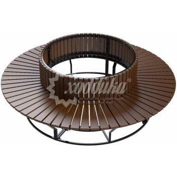 Скамейка-диван стальной «круглый» боярд