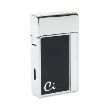 Ca1601 зажигалка caseti газовая турбо, хром  синий лак caset