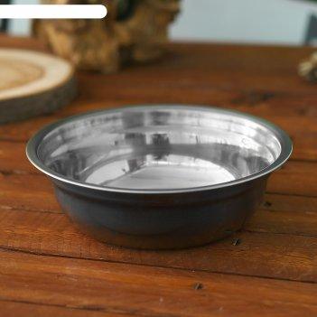 Миска походная следопыт-эконом метал. d 19 см, 1 л