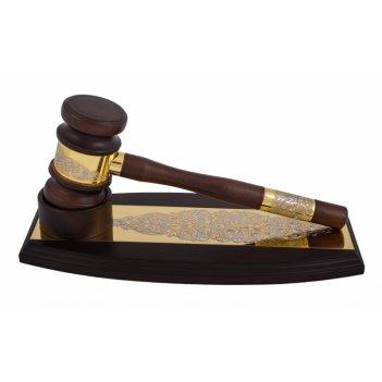 Сувенир молоток судьи справедливость златоуст