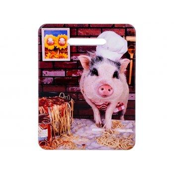 Подставка под горячее -доска разделочная свинячьи радости 15*20 см (кор=48