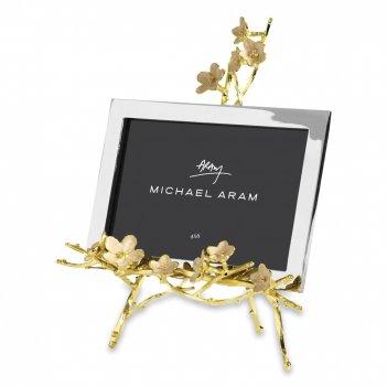 Рамка для фото 10 х 15 см «цветущая вишня», материал: латунь, нержавеющая