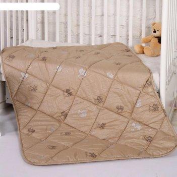 Одеяло верблюжья шерсть 110х140 см, холлофайбер 300г/м, тик