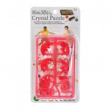 Мини-пазл 3d кристаллический спорт микс
