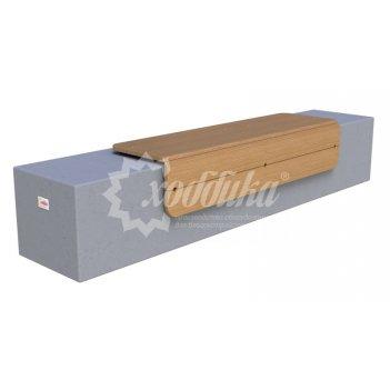 Скамья бетонная «сколково-1»