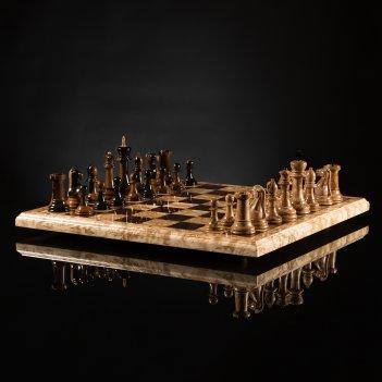 Шахматы стаунтон ретро из карельской березы kadun 45см