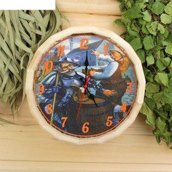 Часы банные бочонок рыцарь