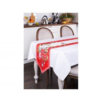 Дорожка на стол торжество 40х220 с углом 100% хлопок,твилл