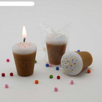 Декоративная свеча кулич хв