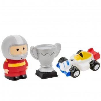 Набор игрушек-брызгалок для ванны «автоспорт», 3 шт.