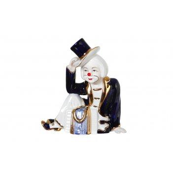 Статуэтка клоун с гармошкой красн.карт.уп