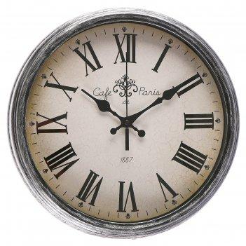 Часы настенные, серия: классика, хлоя, римские цифры, микс , d=33.5 см