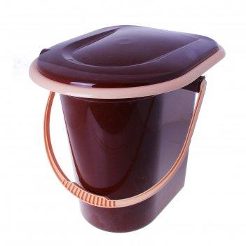 Ведро-туалет 17 л, коричневое